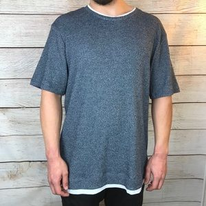 Zara Men's T-Shirt with Contrasting Piping